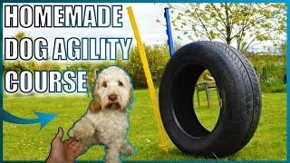 I created a DOG AGILITY COURSE at home...