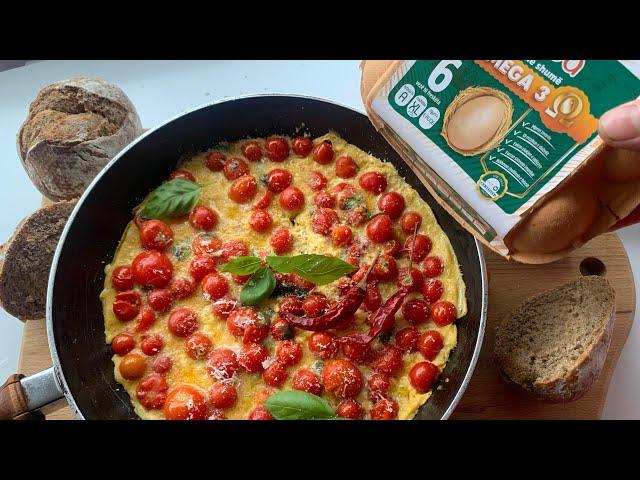 Omletë me Domate - Tomate Omlette Recipe