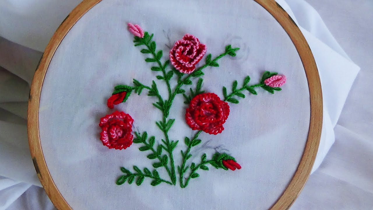 3d Embroidery Flowers