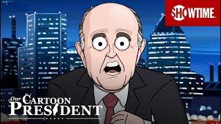 Karikatür Rudy Giuliani Karikatür Trump | Bizim Karikatür Başkan | SHOWTİME Savunur