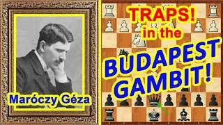 Chess TRAPS and TRICKS! ♔ Budapest Gambit opening ♕ Free lessons for beginners!