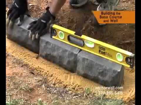 how to build a retaining wall youtube