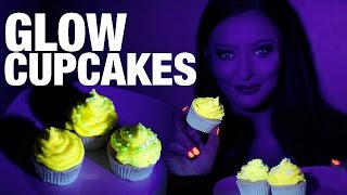 How to make GLOW in the dark Cupcakes - UV reactive! - DIY Halloween Food ideas