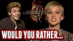 Catching Fire Cast Plays Would You Rather - Jennifer Lawrence, Josh Hutcherson, Sam Claflin
