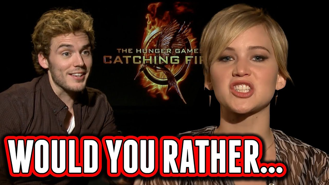Catching fire cast plays would you rather jennifer lawrence catching fire cast plays would you rather jennifer lawrence josh hutcherson sam claflin youtube voltagebd Gallery