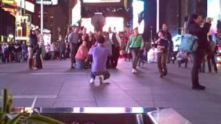 people walking in times square, nyc 2009 - 1 minute locations