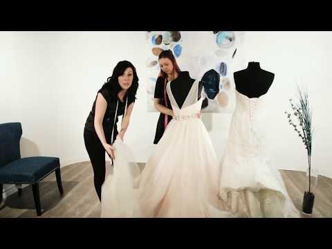 hook up wedding dress train