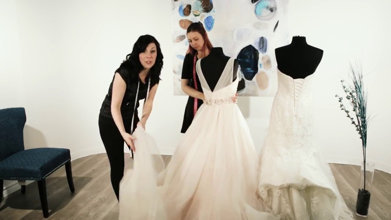 How To Bustle A Wedding Dress Train