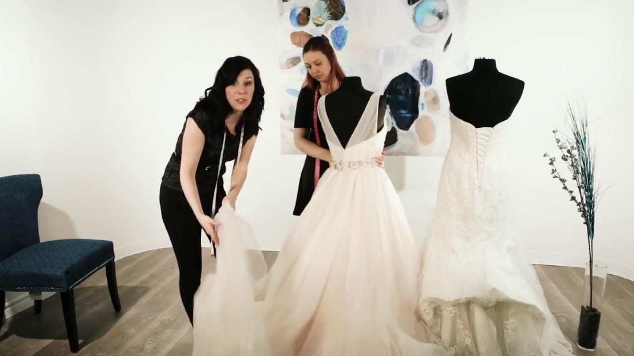 How To Bustle A Wedding Dress Train