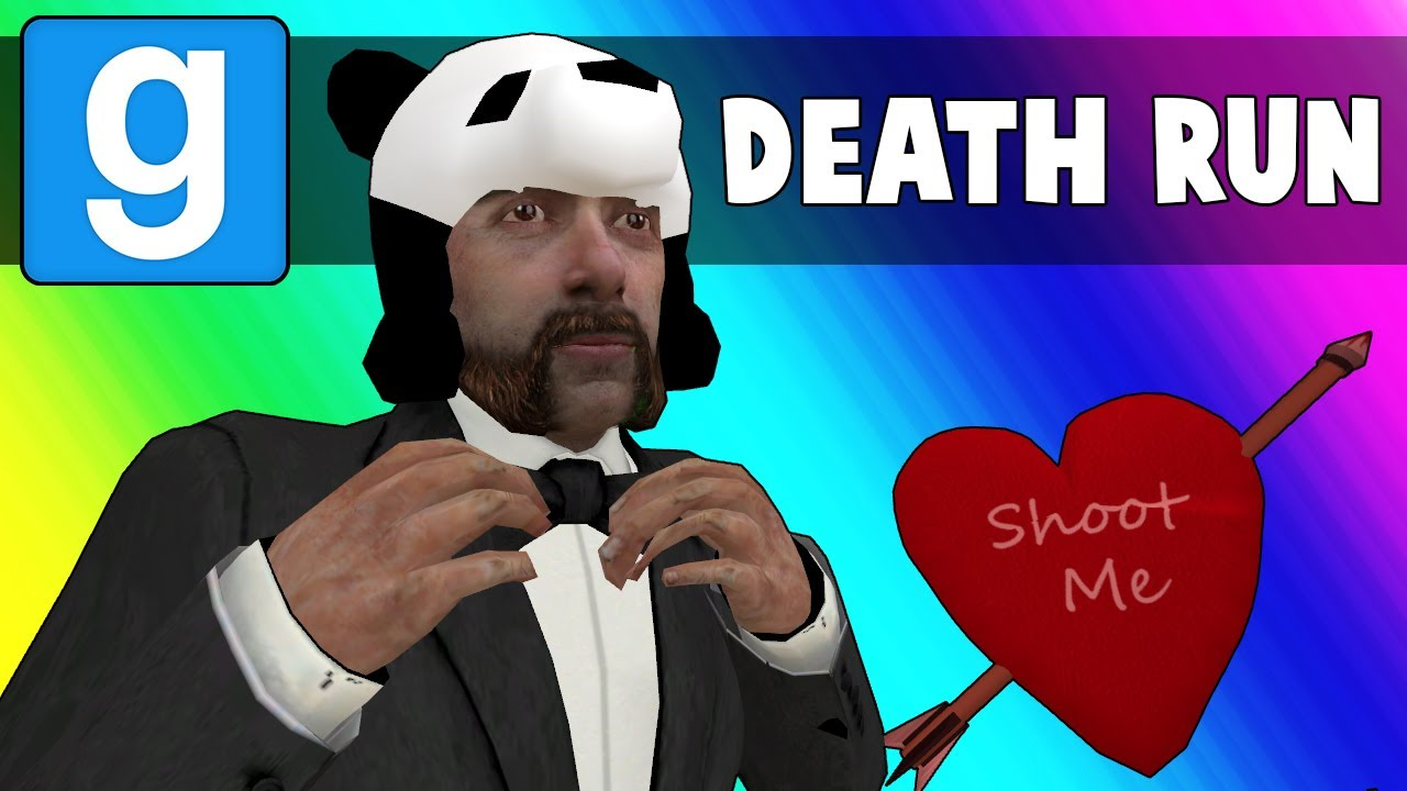 Gmod Death Run Funny Moments - Panda's Hot Valentines Date! (Garry's Mod)