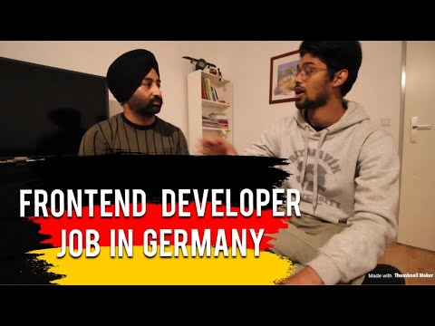FRONTEND DEVELOPER JOB IN GERMANY