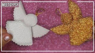 Ángel de goma eva Fácil / Ángel navideño Foami / Ángel de navidad / Adorno de navidad goma eva