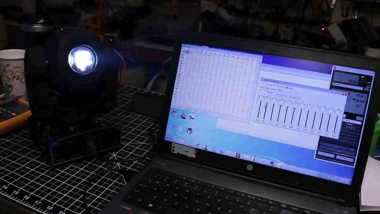 Wifi E1 31 DMX moving head
