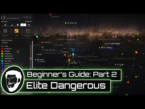A Beginner's Guide to Elite: Dangerous - Part 2 - Galaxy Map Tutorial