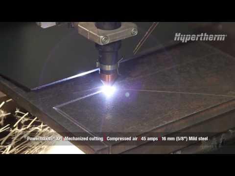 Powermax45 XP mechanized cutting - 16mm mild steel