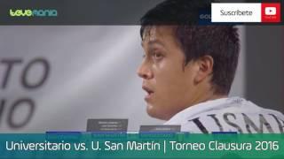 Universitario vs. U.  San Martín (1-3) - Torneo Clausura 2016 | Resumen y Goles en HD 04/08/16