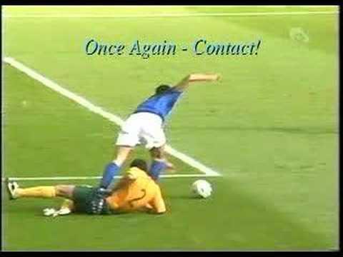Lucas Neill vs Fabio Grosso - Was There Contact?