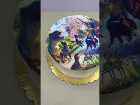 Арт -торт с динозаврами