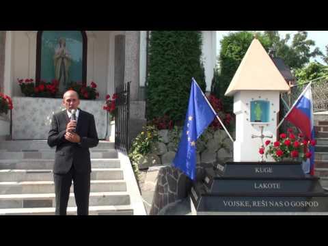 Janez Janša ob odkritju zahvalno-spravnega obeležja v Bevkah, 11. 9 .2016