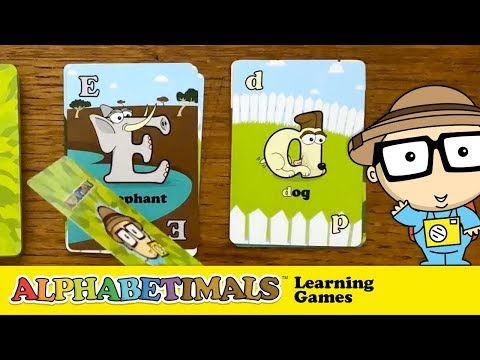 ABC Letter Learning Card Game - Flash Cards, Go Fish, Old Maid, Memory & More!   Alphabetimals.com