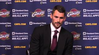 Kevin Love is introduced as the newest Cleveland Cavalier