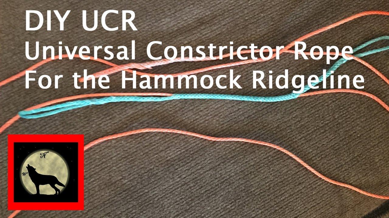 live ucr universal constrictor rope for hammock ridgeline using amsteel     live ucr universal constrictor rope for hammock ridgeline using      rh   youtube