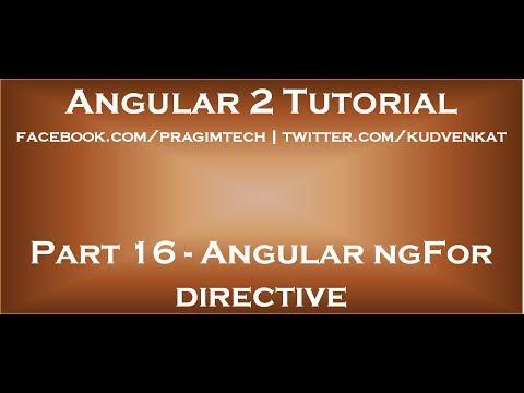 Angular NgFor Directive