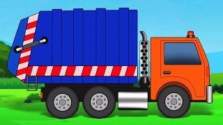 lavaggio auto - camion della spazzatura | video educativi | Kids Videos | Car Wash - Garbage Truck