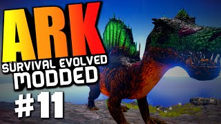 "Ark Modded #11 ""lvl 200 Spino, Ark Reborn, Mountain Mining"" (Ark Survival Evolved)"