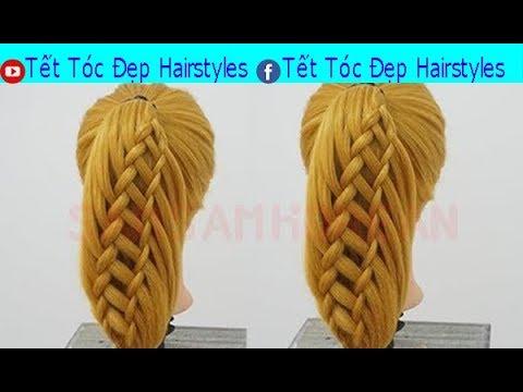 Tết Tóc Đẹp Hairstyles -  Dạy Cách Tết Tóc Đơn Giản Mà Đẹp Kiểu Thác Nước  Bài 3  HAIR TUTORIAL