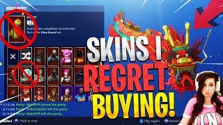 Skins I REGRET Buying in Fortnite Battle Royale! ($1000 Fortnite Locker Showcase!)