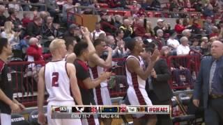 Highlights of Eastern Men's Basketball against Northern Arizona ( Jan. 19).
