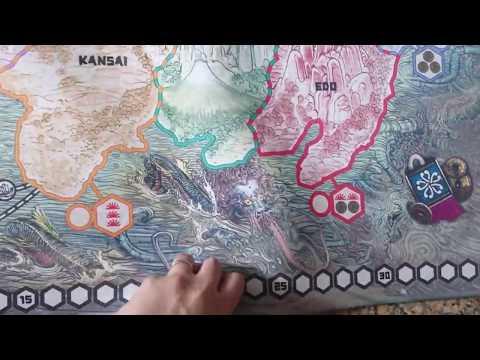 CMON Rising Sun Kickstarter Core Game Board World Map Cardboard