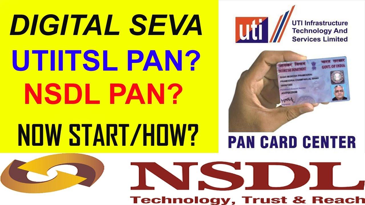 How To Registered Utiitsl Pan Card Center Nsdl Online Start
