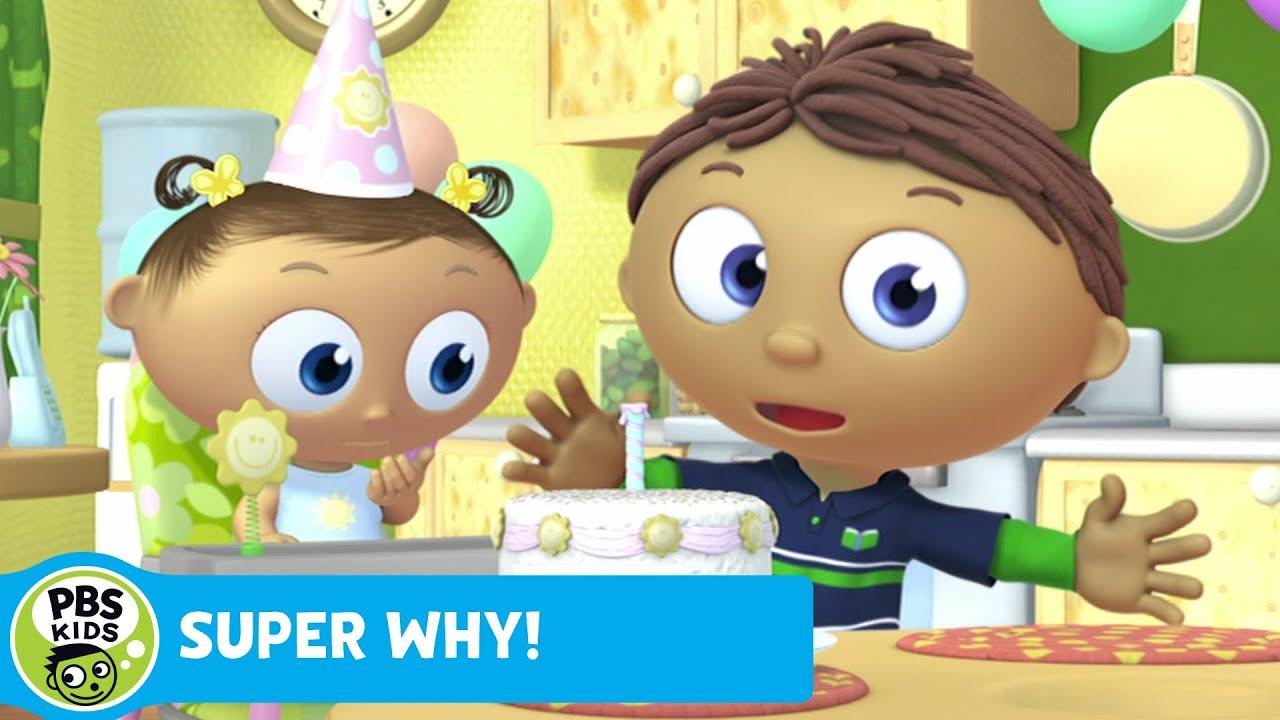 Super Why Whyatt Makes A Birthday Cake Pbs Kids Youtube