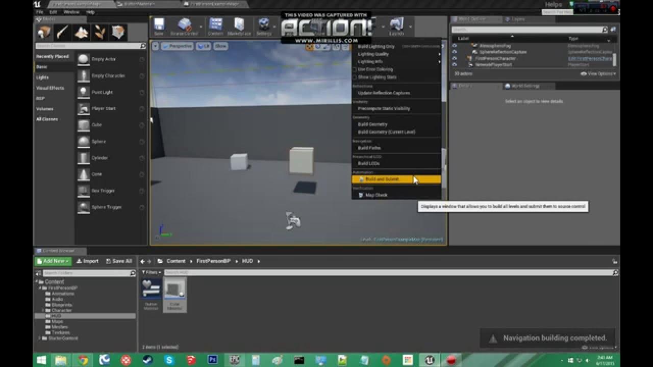 Tutorial Unreal Engine 4 UMG Set Material