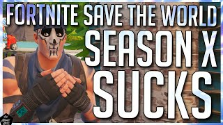FORTNITE STW: SEASON X OF STW IS REALLY BORING | THOUGHTS AND DISCUSSION!