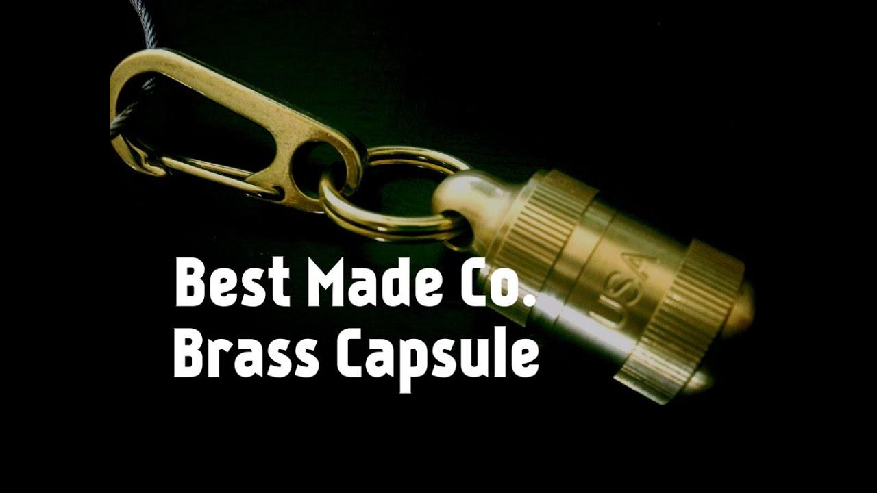 edc alert best made brass keyring capsule youtube