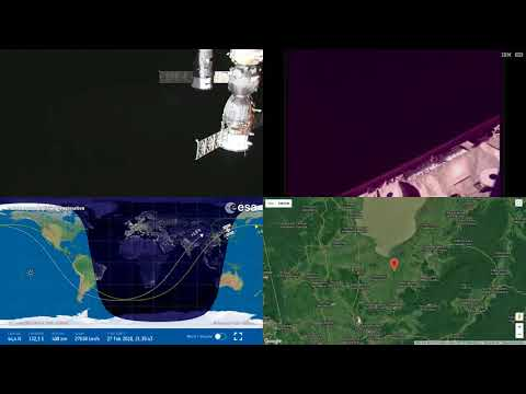 Sunrise Over Asia Ahead Of Soyuz Departure - NASA/ESA ISS Space Station Livestream With Map - 1