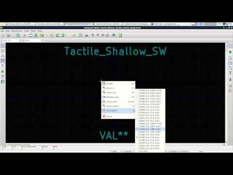 Kicad Tutorial 12/2014 - Part 7/12 - Custom PCB Footprints