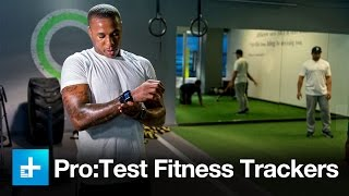 Marcus Peters and Marshawn Lynch test the latest fitness trackers