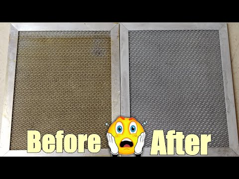 How to Clean OVEN FILTER WITHOUT BRUSHING | STOVE EXHAUST FILTER HACK