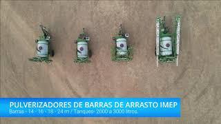 Pulverizador Agrícola IMEP - Barras de 14, 18 e 24m. Pulverização Agrícola. Imagens Drone.