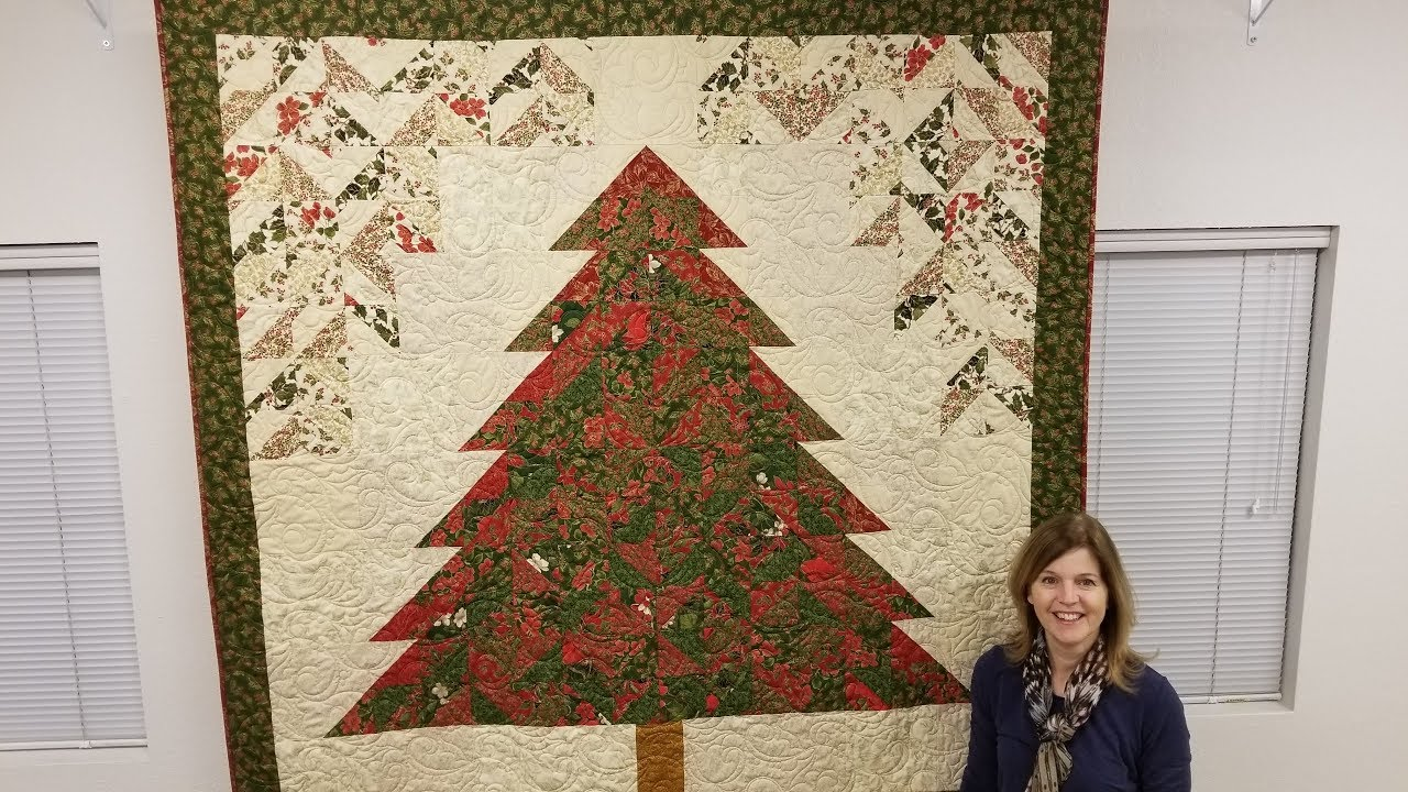 strip tube tannenbaum christmas tree quilt