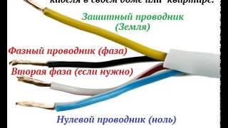 4 Видеоурок Расцветка и правильное подключение жил электрических кабелей или проводов