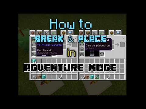 ||How to Break & Place Blocks in Adventure Mode|| MCPE Command Tutorial