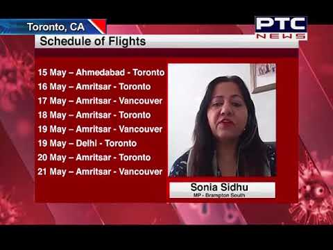 MP Sonia Sidhu discusses flights from India