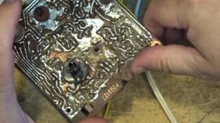 dangerous ac operated radio fm repair