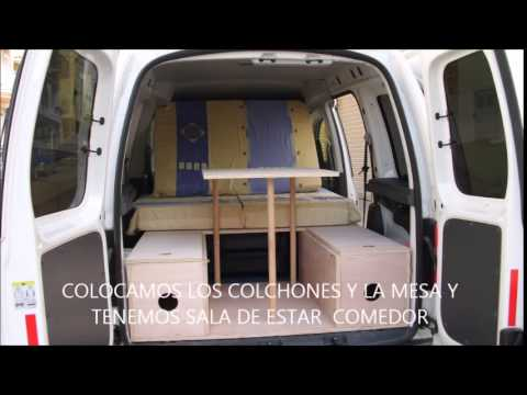 volkswagen caddy camper van youtube. Black Bedroom Furniture Sets. Home Design Ideas