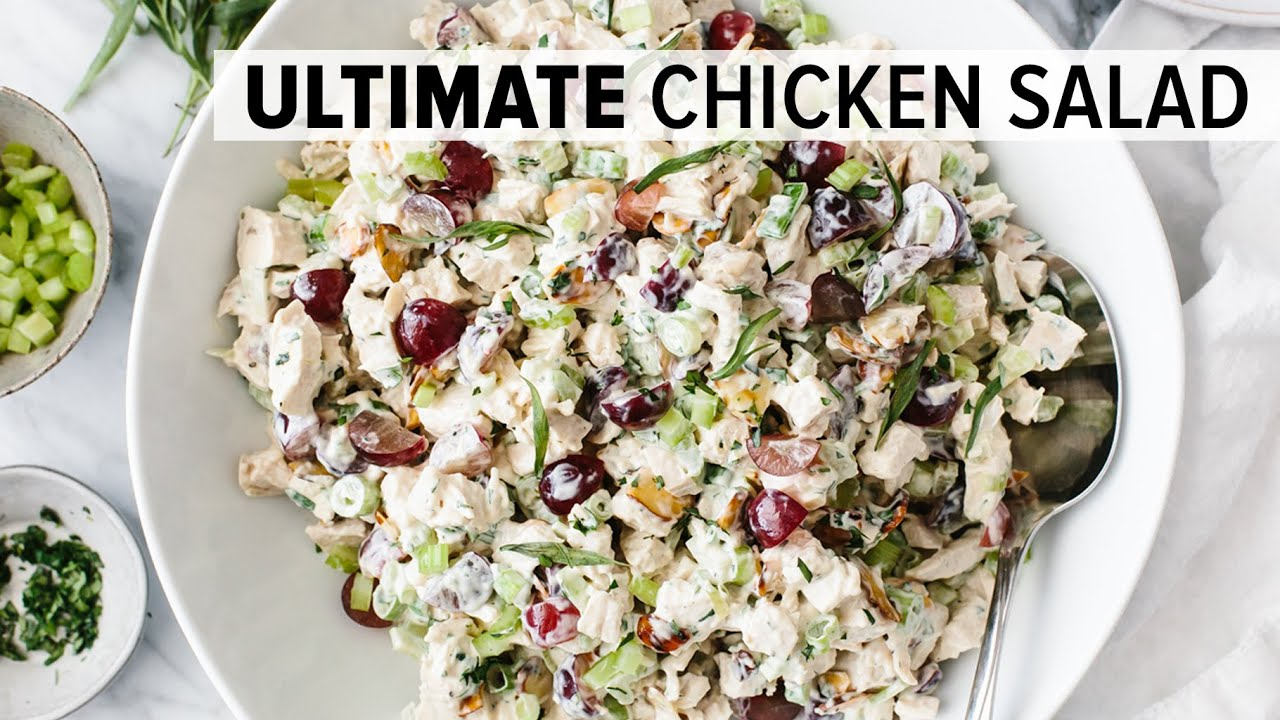 BEST CHICKEN SALAD RECIPE | easy & healthy